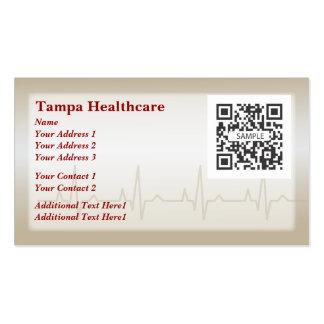 Salud del corazón de la plantilla de la tarjeta de plantilla de tarjeta personal