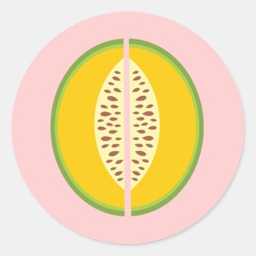 Salud del dulce de la fruta de Mushmelon del Etiquetas Redondas