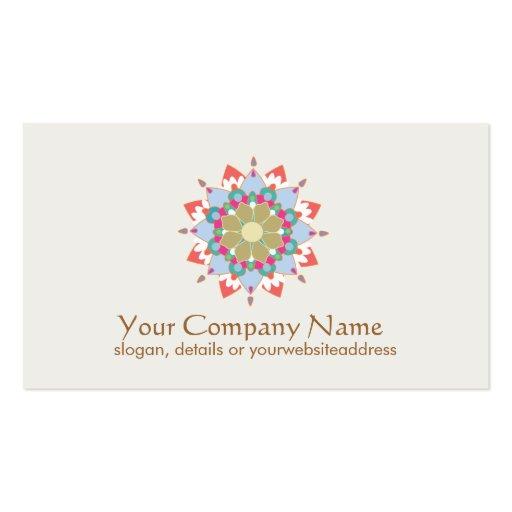 Salud del símbolo de Lotus y tarjeta de visita cur