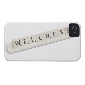 Salud deletreada en un juego de tablero de la iPhone 4 Case-Mate protector