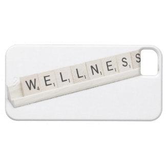 Salud deletreada en un juego de tablero de la iPhone 5 carcasa