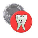 Salud dental del dentista divertido pin