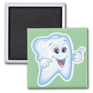 Salud dental divertida imán cuadrado