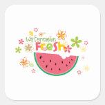 Salud dulce de la fruta de las sandías de la calcomanías cuadradas
