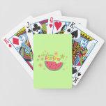 Salud dulce de la fruta de las sandías de la sandí baraja cartas de poker