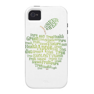 Salud Eco verde amistoso iPhone 4 Fundas