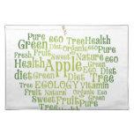 Salud Eco verde amistoso Mantel Individual