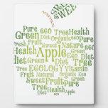 Salud Eco verde amistoso Placa Para Mostrar