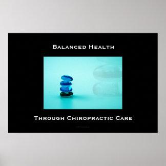 Salud equilibrada a través del poster 1 del cuidad