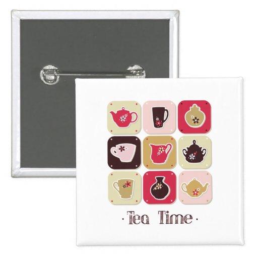 Salud feliz del amor de los postres dulces del boc pin cuadrada 5 cm