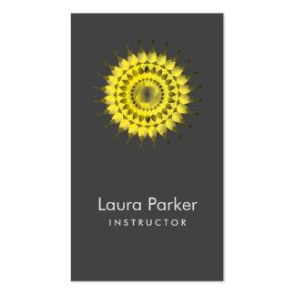 Salud floral simple del logotipo elegante de Lotus Tarjetas De Visita