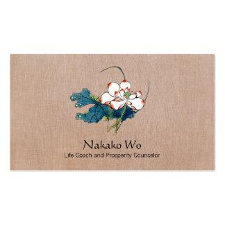 Salud holística de los artes curativos de la flor  tarjetas de visita