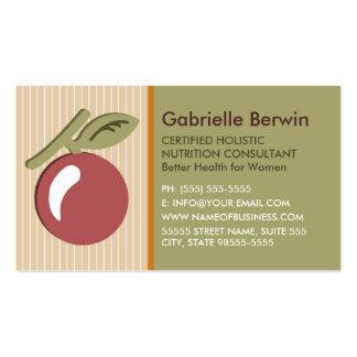 Salud holística femenina de las mujeres del tarjetas de visita