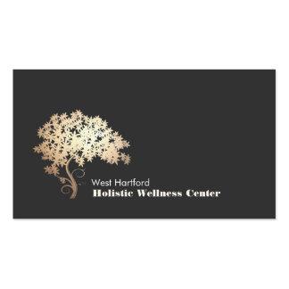 Salud holística y alternativa del árbol del zen tarjetas de visita