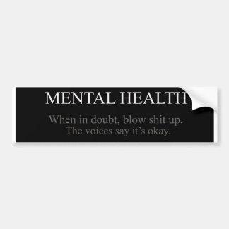 Salud mental etiqueta de parachoque