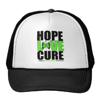 Salud mental - curación del amor de la esperanza gorros