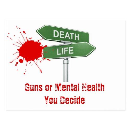 Salud mental de la ayuda tarjetas postales