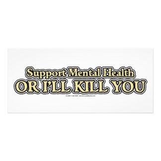 Salud mental de la ayuda tarjetas publicitarias