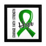 Salud mental de la esperanza 5 de la fe del valor cajas de recuerdo