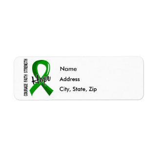 Salud mental de la esperanza 5 de la fe del valor etiqueta de remite