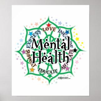 Salud mental Lotus Póster