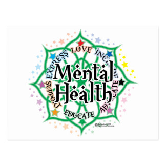 Salud mental Lotus Tarjeta Postal