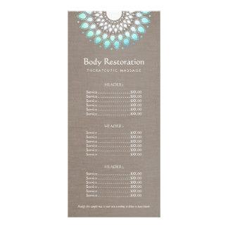 Salud natural azul de Lotus y lista de precios de Lona Publicitaria