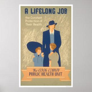 Salud pública del condado de Cook WPA 1938 Posters