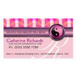 Salud rosada de Reiki del caramelo y tarjetas de v Tarjeta De Visita
