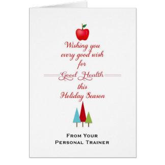 Salud y aptitud Tarjeta-Apple de saludo del Tarjeta De Felicitación