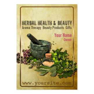 Salud y belleza herbarias - tarjeta de visita