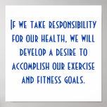 Salud y motivación del ejercicio impresiones