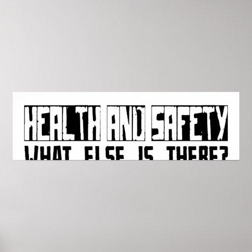 ¿Salud y seguridad qué más está allí? Póster