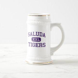 Saluda - tigres - alto - Saluda Carolina del Sur Tazas