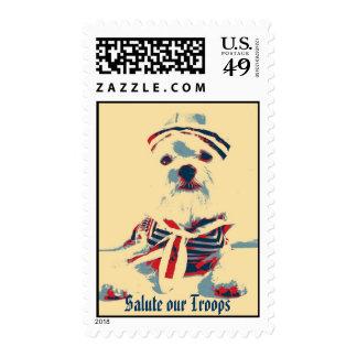 Salude a nuestras tropas (la imagen de la sello