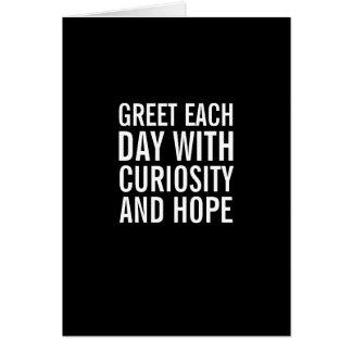 Salude el día con esperanza… y la tarjeta divertid