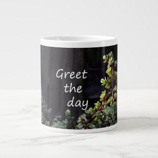 salude el día con jade del bebé taza grande