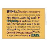 Salude la primavera con la tarjeta del arte del co