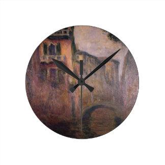 Saludo 02 del della de Río de Claude Monet Reloj Redondo Mediano