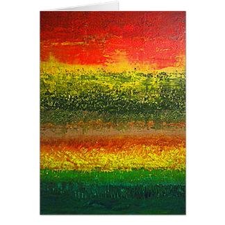 Saludo abstracto vertical 2 tarjeta de felicitación