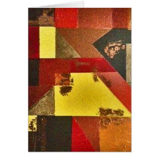 Saludo abstracto vertical tarjeta de felicitación