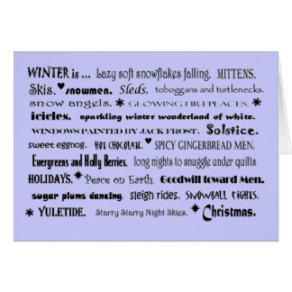 saludo agradable del invierno tarjetón