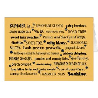 saludo agradable del verano tarjetas