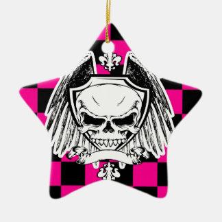 Saludo al arrastramiento adorno navideño de cerámica en forma de estrella