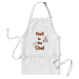 Saludo al cocinero delantal