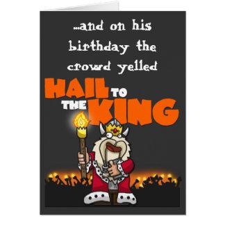 Saludo al rey - tarjeta de cumpleaños