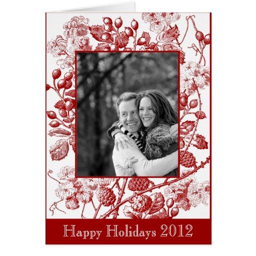Saludo antiguo de la fruta y de la foto de las flo tarjeta de felicitación