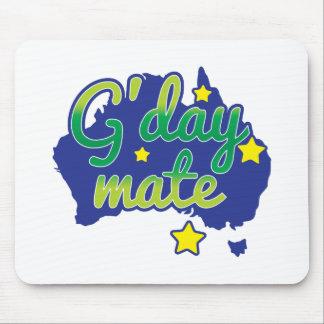 Saludo australiano del compañero de G'DAY hola Alfombrilla De Ratones