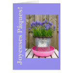 Saludo azul común de pascua de los hyacints - fran tarjeton
