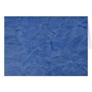 Saludo azul del espacio en blanco del yeso